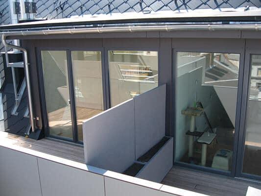 Sichtschutz zwischen Terrassen