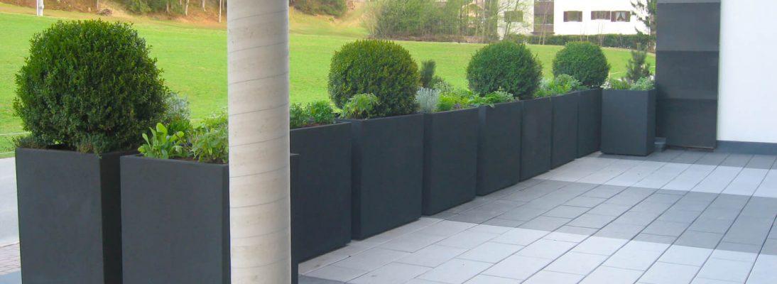 Abgrenzung für Terrasse